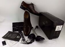 SAMUEL WINDSOR HANDMADE MENS CLASSIC LEATHER OXFORD SHOE MID BROWN SIZE 7 BV44