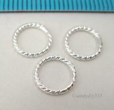 10x STERLING SILVER CLOSED TWIST JUMP RING JUMPRING 8mm 1mm  #473