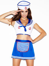 Ann summers All Hands On Deck Sailor Girl Outfit & Hold Ups Sz 18 *In Stock*