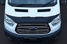 BLACK FRONT BONNET BRA / PROTECTOR HALF FOR FORD TRANSIT 2014+ MK8