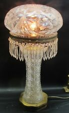 "Very Fine & Large 24.5"" American Brilliant Cut Glass Lamp  c. 1905  antique vase"