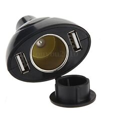 Hot USB Dual 2-Port Car Power Cigarette Cigar Lighter Socket Charger Adapter 12V