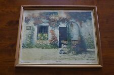VINTAGE Etching By E.R. Haumont Golden Hours Framed Print