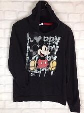 WOMENS DINSEY MICKEY MOUSE HOODIE SWEATER JUMPER PULLOVER FESTIVAL URBAN UK S