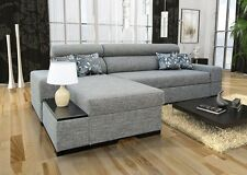 Orfeusz mini  corner sofa bed faux leather or fabric, left or right hand corner