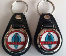 FORD SHELBY CLASSIC COBRA  KEYCHAIN 2 PACK  FOB CARL LOGO