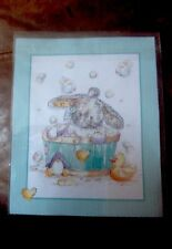 SOMEBUNNY BATHTIME BUNNY COMPLETED KIT MAKE YOUR OWN CARD MOTHERS DAY / BIRTHDAY