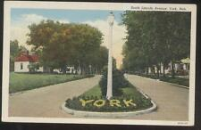 POSTCARD YORK NE/NEBRASKA SOUTH LINCOLN AVENUE FAMILY HOMES/HOUSES 1920'S