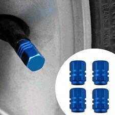 4X Aluminum Car Wheel Tire Valves Tyre Stem Air Caps Airtight Cover Blue