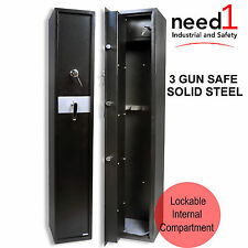 JMV 3 Gun Safe Firearm Rifle Storage Lock box Steel Cabinet Heavy Duty Locker