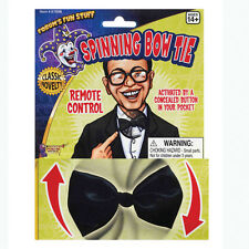 NOVELTY #SPINNING BLACK BOWTIE FOR AGE 14+ FANCY DRESS COSTUME PARTY ACCESSORY