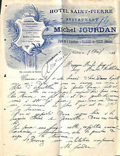 50 VILLEDIEU-LES-POELES COURRIER HOTEL SAINT-PIERRE MICHEL JOURDAN 1914