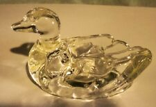 VINTAGE GLASS CANDY CONTAINER SHAPED LIKE SWAN.