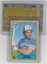 CECIL FIELDER 1987 Topps TORONTO Blue Jays ERROR Wrong Back Billy Hatcher
