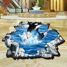 3D Animal Ocean Mural Decor Art Vinyl Decal Bathroom Floor Wall Sticker Decals