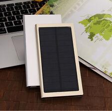 New 20000mAh Slim Dual USB Portable Solar Battery Charger Power Bank w/ LED