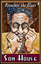 """Poster of Son House """"Preachin' The Blues"""" by Cadillac Johnson"""