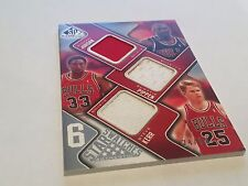 SP GU 6 Star Swatches 2009-10 Patch Jordan Pippen Chicago Bulls Magic Lakers