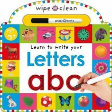 Wipe Clean Learning Bks.: Learn to Write Your - Letters ABC by Roger Priddy...