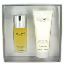 Escape by Calvin Klein 2 Piece Gift Set 3.4oz Edt, After Shave Balm New In Box