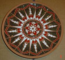 Superb Vintage Bonis Pottery Hand Made Wall Plate Rhodes Greece