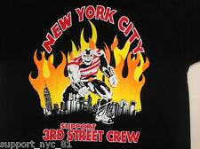 Hells Angels Support NYC 81 3rd st crew New York City's Beast T Shirt XXL