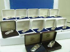 Herpa Collection 12 x auto in 925 Sterling-Argento Edizione 250 Pezzi Top rarità