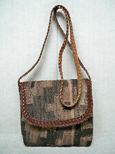 L. J. SIMONE -KILIM WOOL -Aztec Southwestern Tapestry-Shoulder Bag Handbag Purse
