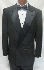 4B Boys Black Double Breasted Tuxedo Jacket Discount Costume Kids Ringbearer Kid