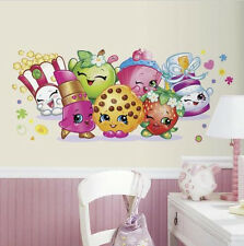 SHOPKINS PALS large wall sticker MURAL 1 decal grocery characters fries popcorn