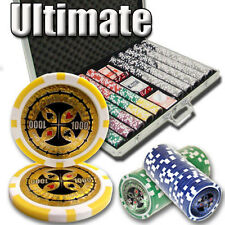 NEW 1000 PC Ultimate 14 Gram Clay Poker Chips Set Aluminum Case Pick Your Chips