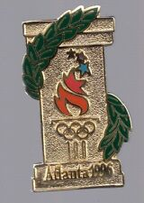 1996 Atlanta Torch Gold Column Olympic Pin