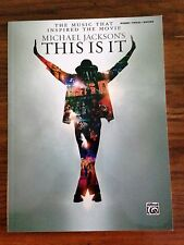"Michael Jackson ""This Is It"" Song Book for Piano*Vocal*Guitar"