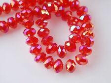 Wholesale 98-100pc Swarovski red AB Crystal Loose Beads 4x6mm free shipping