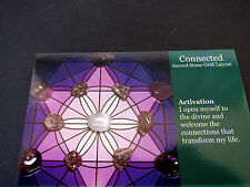 CONNECTED Grid Layout Card Healing Crystals 4x5inch Cardstock Divine Energy