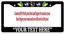 Black License Plate Frame Custom JDM Your Text, your style Accessory Novelty