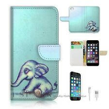 iPhone 6 (4.7') Flip Wallet Case Cover! S8130 Elephant