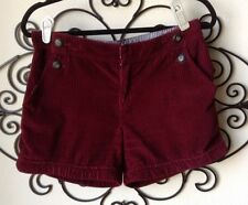 Anthropologie Daughters Of The Liberation Size 6 Burgundy Chunk Cord Shorts