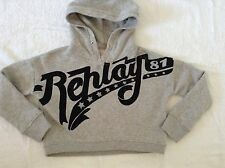 BNWTT 100% Auth By Replay, KIDS / Boys Grey Jumper / Hoody With Logo. 4 YRS