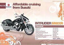 Suzuki M1800R UK flyer brochure 1800 Intruder