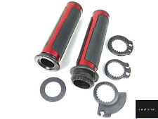 ASV Alloy Trim Handlebar Grips Set Throttle Tube *RED Yamaha YZF-R125 Honda CBR