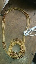 "African  Gold & Brown Waist Beads, 3-in-1, 36""inches long New"