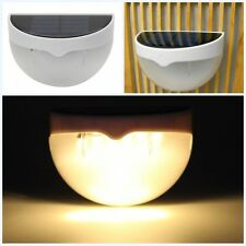 Warm white Outdoor Garden Yard Solar Powered Light Gutter Fence  Wall Lamp 6 LED