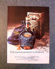 [GCG] L029- Advertising Pubblicità -1979- CHIVAS ROYAL SALUTE , WHISKY