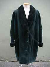 Women's Long Genuine Authentic Sheepskin Shearling Coat - Size Extra Large