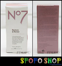 BOOTS No7 Restore & Renew Day and Night Serum Set (2 x 15ml) 100% Authentic