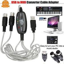 Adapter PC Converter line Music Editor To USB/Keyboard Piano 5-Pin MIDI Cable