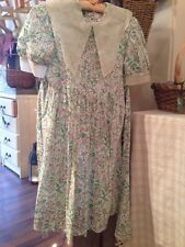 Sally Membery Vintage Girl's Dress. Liberty Fabric. Matching Pull string Bag