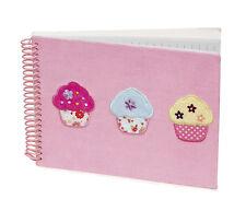 5 x Job Lot Girls Pink Cupcake Note Books Gift Party Bag NB-8101 By Katz