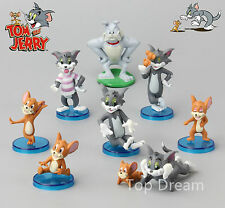 9X Cartoon Tom and Jerry PVC Animation Action Figures Cake Topper Collection Toy